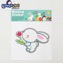 Factory directly wholesale colorful rabbit cartoon kids 3d sticker for decoration