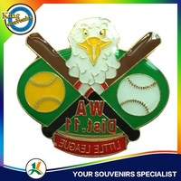 Custom Lapel Pins Eagle Littel League baseball metal badges USA Souvenirs Promotions Gifts Metal Emblem
