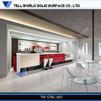 Modern solid surface bar counter kitchen counter home furniture for sale