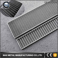 Free sample MOQ=10pcs stainless steel heavy duty floor drain grate, drainage channel
