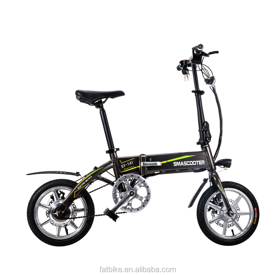 Hot Selling Portable Folding 36v 250W Mini Electric Bike China Factory