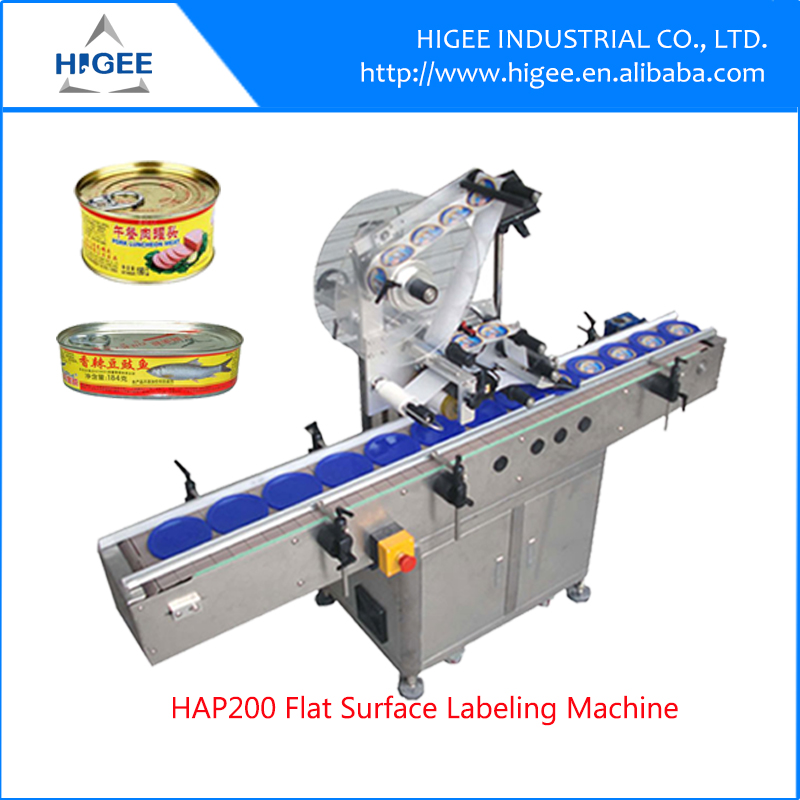 HIG Servo motor SUS304 Economy Automatic foodstuff Labeling Machine automatic labeling machine price