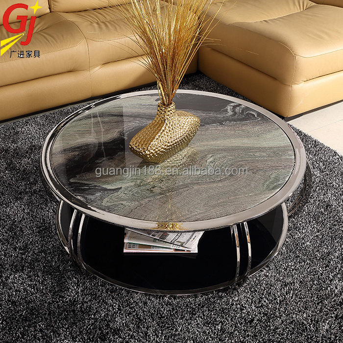stainless steel coffee table RT-9305 modern coffee table