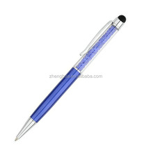 Best quality crystal pen promotion custom logo bright metal pen for wholesale