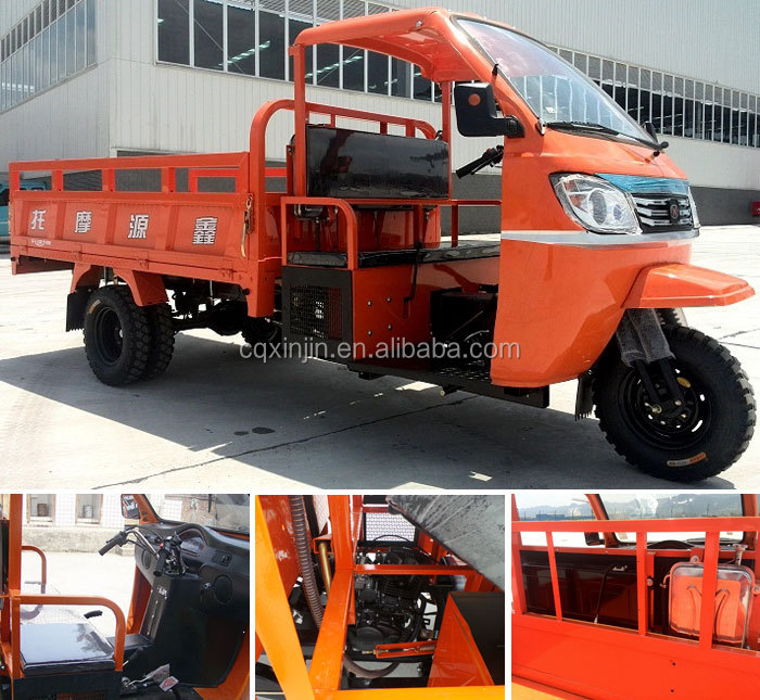 OEM truck tricycle cargo tricycle with semi closed cabin van cargo tricycle