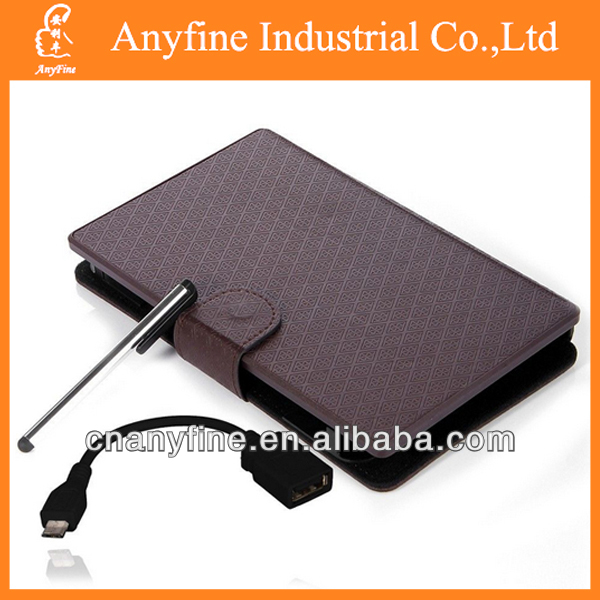 7'' tablet Folio Leather Case Cover USB Keyboard for 7 inch Tablet
