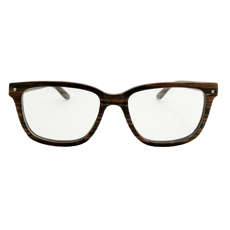 Wood Optical Frame Spring Hinge Changeable Lens Prescription Glasses