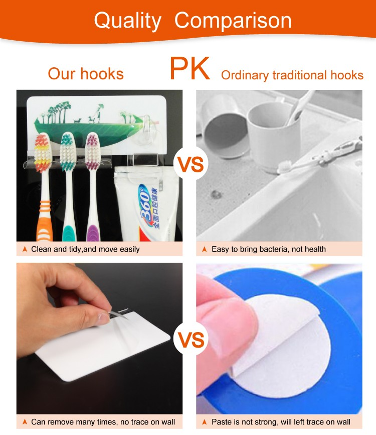 toothbrush holder hooks
