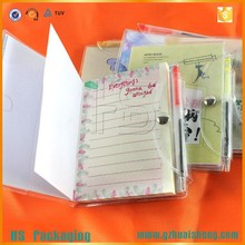 stationary supplier A4 A5 clear pvc cover notebook