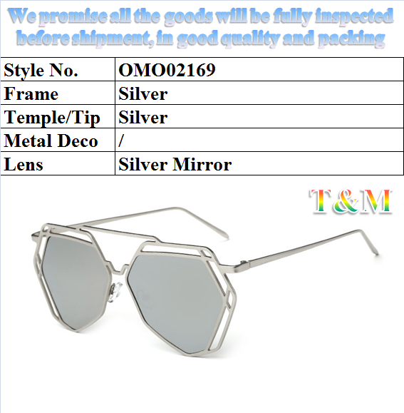 "2017 Hot Sell Metal Sunglasses for Women ""Cheap Price, Classic Style, Sunglasses Polarized, Have Stock"" OMO02169"
