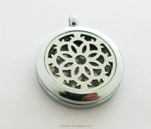 Polish XX06 30mm Perfume Aromatherapy Locket Necklace(free pads) Stainless Steel Essential Oil Diffuser Locket Pendant