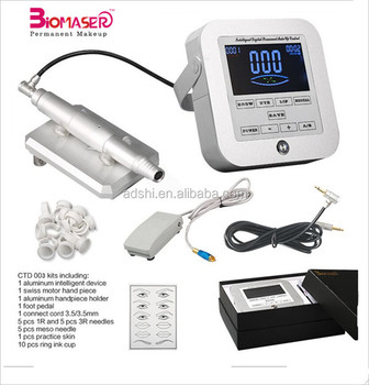 Digital Control Panel Cosmetic Micropigmentation Tattoo Permanent Makeup Machine