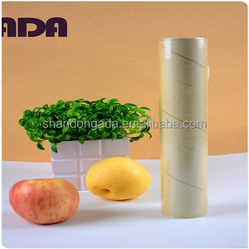 White plastic wrap best fresh pvc cling film roll for food packaging film
