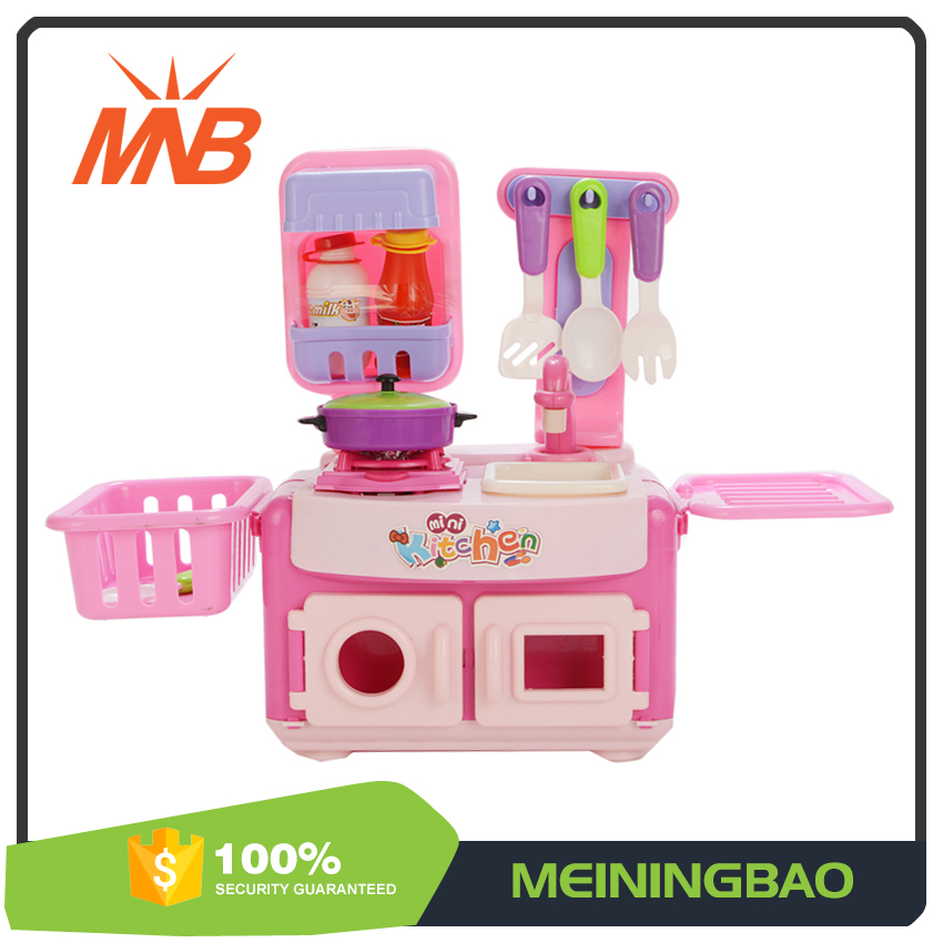 best selling toys luxury cute cooker mini kitchen set toy with light sound