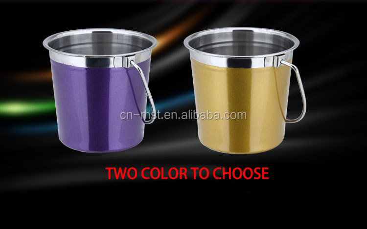 Color sprayed Stainless Steel ice bucket With Handle