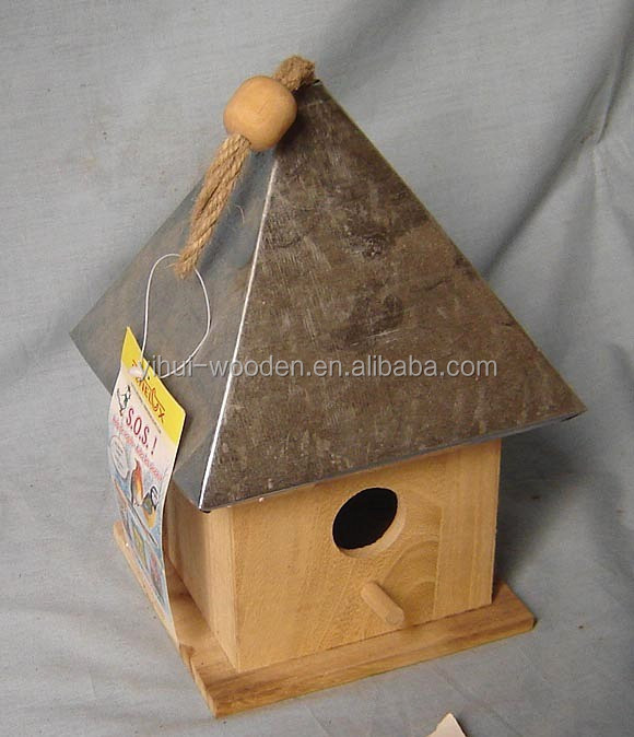 Cheap metal bird house