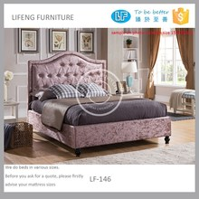 Living room velet bed, queen size pink bed LF-146.153203cm