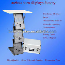 2014 high quality new brochure stand table/brochure holder