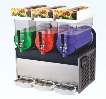 three taps Slush machine for drink with CE approval and electronic control