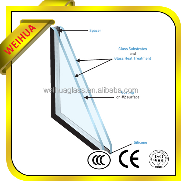 Double glazed shutter windows, coated curtain wall hollow glass