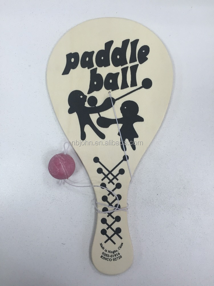 paddle ball wood paddle ball toy paddle ball