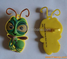 New arrival lovely bee shape rubber pencil topper