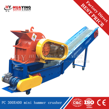 Casting steel body PC400X300 lime stone hammer crusher price