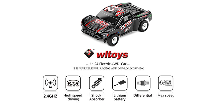 WLtoys A232 1:24 Scale 4WD 2.4G off-road Desert Buggy RTR