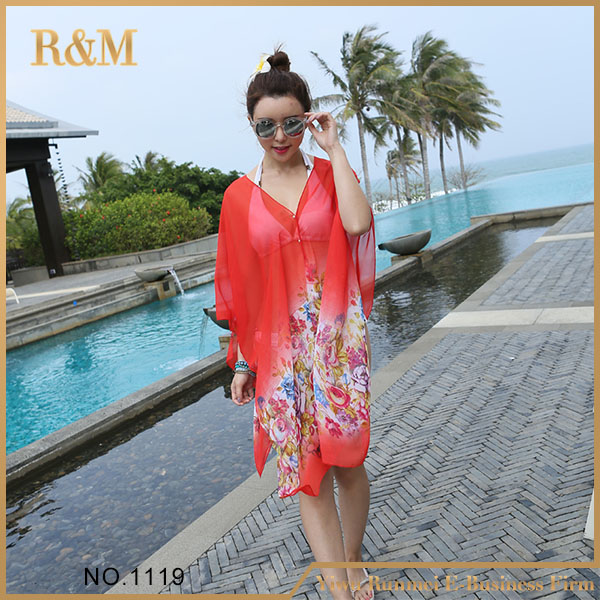 2016 new design women lace beach cover up