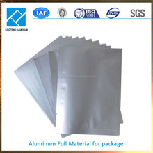 packing material of aluminum foil used to make food containers
