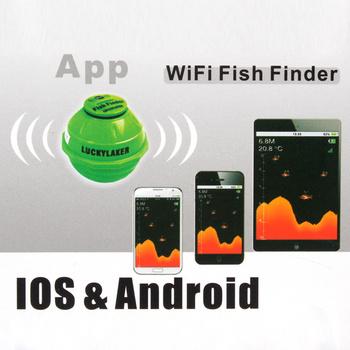Lucky ff916 sonar wireless wifi underwater fish finder 50m for Iphone fish finder