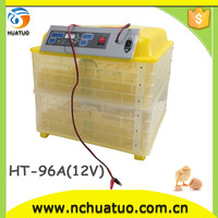 Factory price 96 eggs incubator hatch chicks with battery and solar for sale