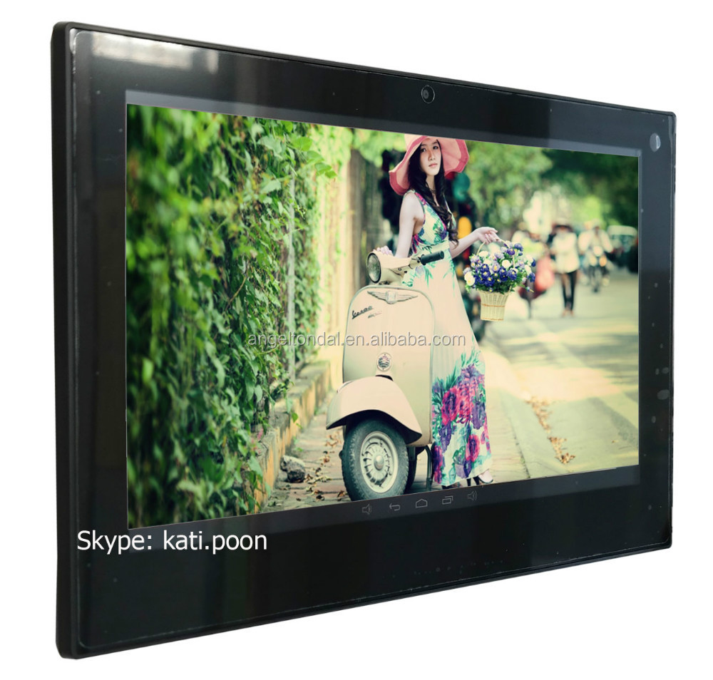 13.3'' flush mount wall tablet, wall mountable tablet with ethernet/microphone jack