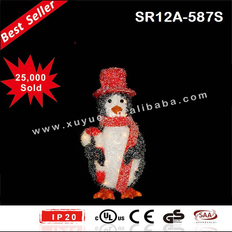 LED penguin with hat