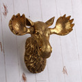 Resin moose head wall hanging decorative for home decor