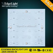 Edgelight Backlight 24V SMD 2835 LED light strip , square module , UL CE ROHS