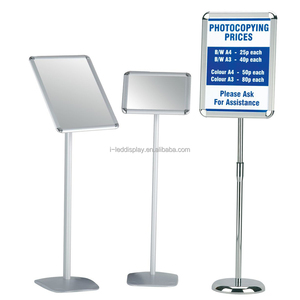 A3 A4 Floor Standing Party Adjustable Poster Display Snap Frame Sign Advertisement Holder Menu Shop Restaurant Stand