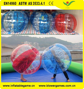 Hot selling durable run touch ball inflatable bumper ball