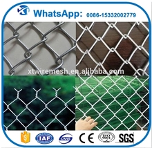 Electro galvanized chain link fence/pvc coated chain link wire mesh fence for sale