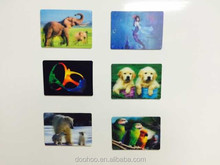 good printing flip effect plastic 3D lenticular card with 3D picture