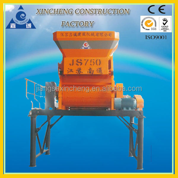 JS750 two-shaft concrete mixer philippines