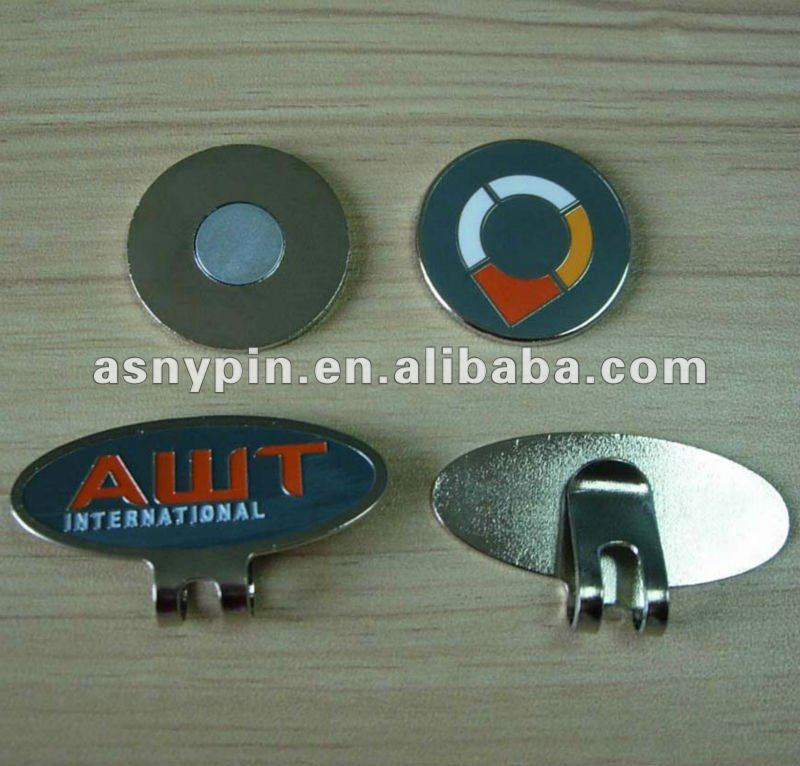 Golf divot tool set with ball marker and magnet