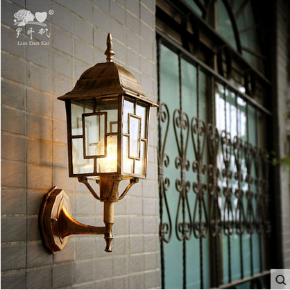 European Style Vintage Industrial Lamp Outdoor Wall Light