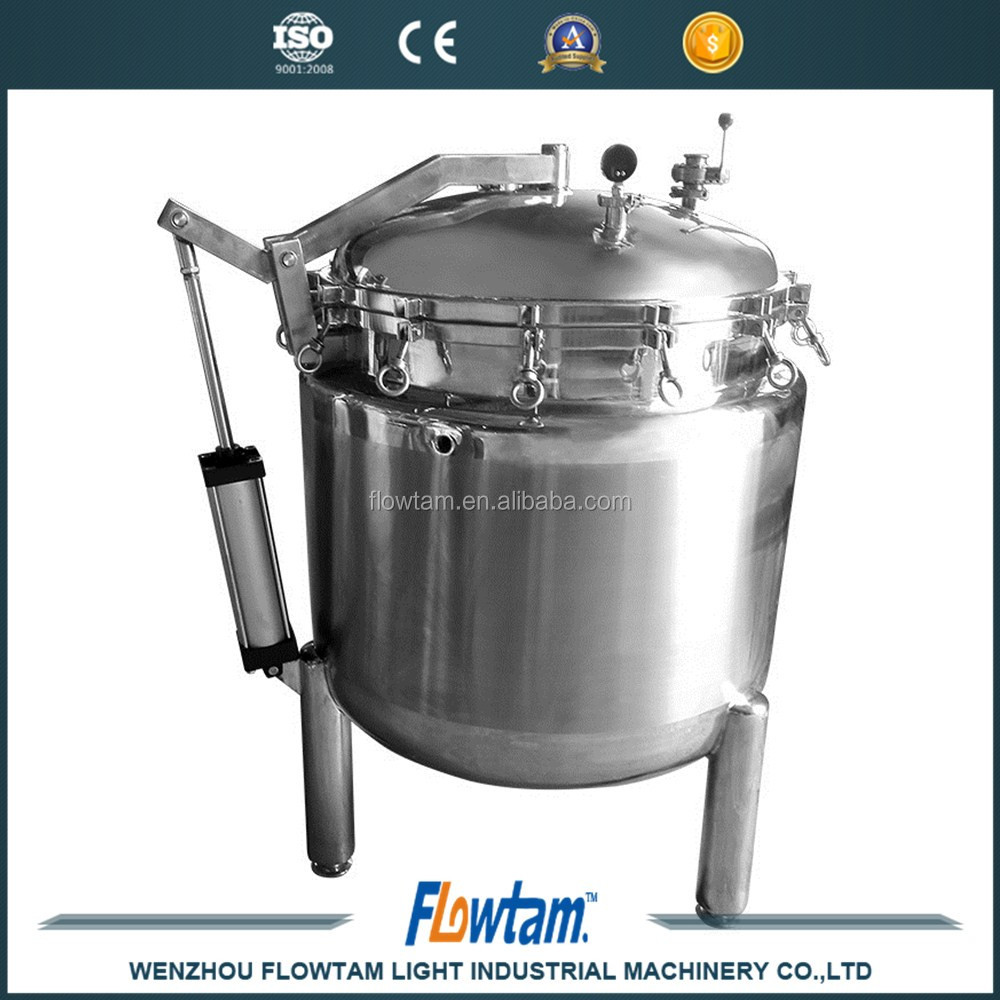 steam jacketed kettle ss316,industrial steam pressure cooker from FLOWTAM