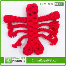 Puppy Biting Teeth and Cleanning Lobster Cotton Chew Rope Pet Toy