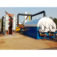 Small scale plastic recycling plant mini waste plastic pyrolysis plant