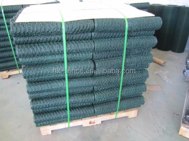 "PVC coated 3/4"" mesh opening poultry hexagonal wire mesh netting"