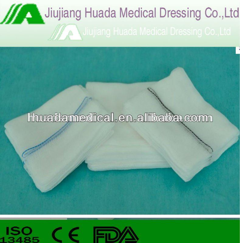 gama and eo sterilization absorbent medical gauze swab/gauze pad mesh19x9 40s with x-ray chip