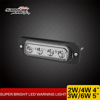 2w Emergency Vehicle Lights 4 LEDs Dual Color Strobe Light Amber Red White Blue Strobe Police Lights for Car