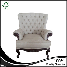 European Style Durable King Violino Leather Sofa Single Seater Sofa Chairs